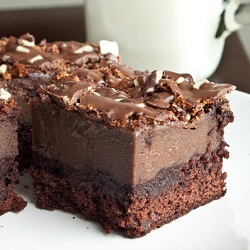 Chocolademousse brownies